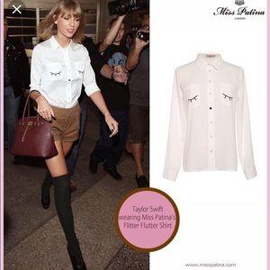 Taylor swift miss patina flutter button up
